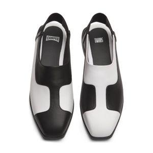 Camper Twins K200319-003 Black & White Shoes US 9